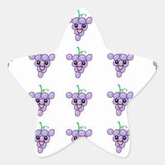 Happy Grapes Star Sticker