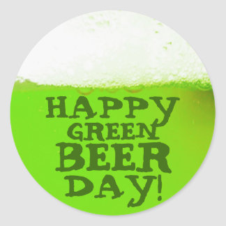 Happy Green Beer Day Irish Sticker