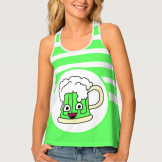 Happy Green Beer Tank Top