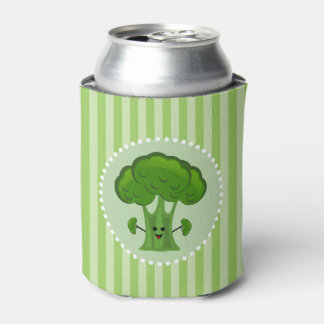 Happy Green Broccoli Can Cooler
