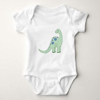 Happy Green Cartoon Dinosaur Baby Bodysuit