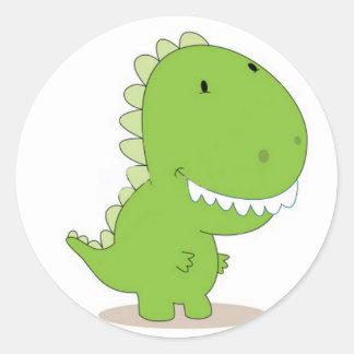 Happy Green Dino Stickers