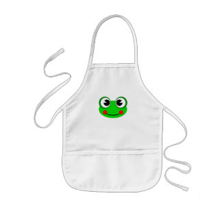 Happy Green Frog Kids Apron