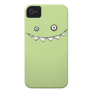 Happy Green Monster In My Pocket iPhone 4 Case-Mate Cases