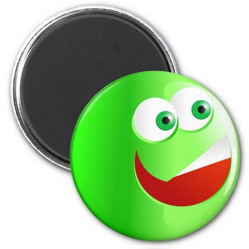 Happy Green Smilie Fridge Magnet