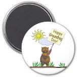 Happy Groundhog Day Groundhog Fridge Magnet