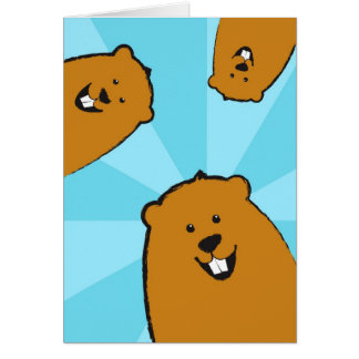 Happy Groundhog Day Illustrated Greeting Card