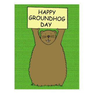 Happy Groundhog Day. Postcard