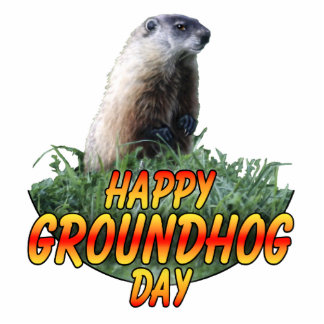 Happy Groundhog Day Standing Photo Sculpture