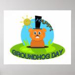 Happy Groundhog Day Sunshine Poster
