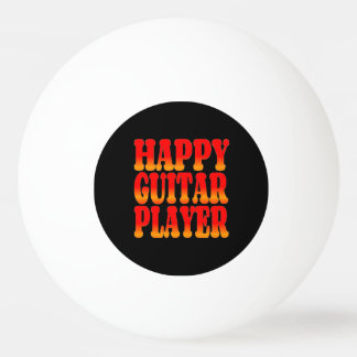 Happy Guitar Player in Cheerful Colors Ping Pong Ball