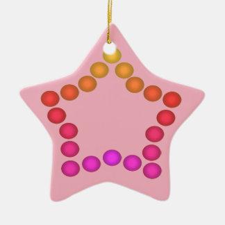 Happy Gumdrops Cute Christmas Decor Pink Stars Ceramic Star Decoration