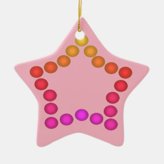 Happy Gumdrops Cute Christmas Decor Pink Stars Christmas Ornament