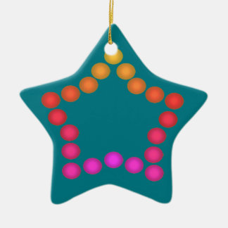 Happy Gumdrops Cute Christmas Star Decorations Ceramic Star Decoration