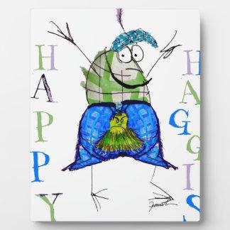 happy haggis plaque