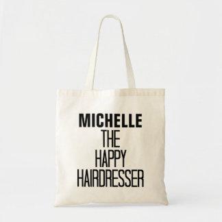 Happy Hairdresser Rhyme Budget Tote Bag