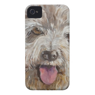 happy  hairy hound dog iPhone 4 Case-Mate case