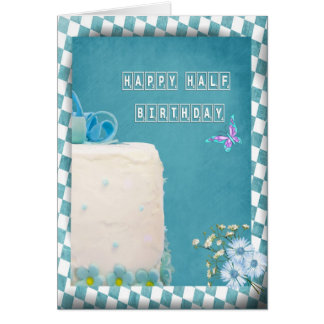 Happy Half Birthday Cake Card