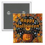Happy Halloween 15 Cm Square Badge