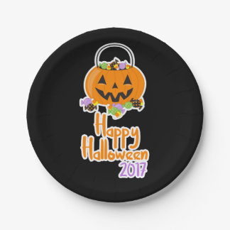 Happy Halloween 2017 Paper Party Plate