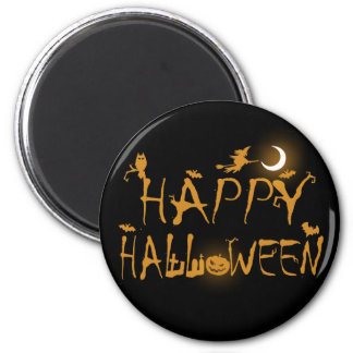 Happy Halloween 6 Cm Round Magnet
