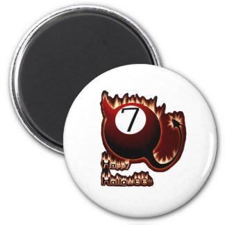 Happy Halloween 7 Ball Devil Magnet