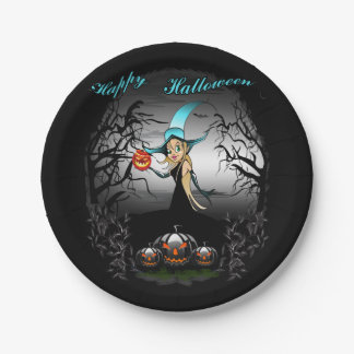Happy Halloween 7 Inch Paper Plate