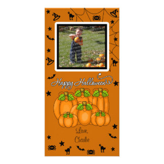 Happy Halloween (Add Your Photo and Text) Customized Photo Card