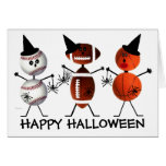 Happy Halloween All Sports Greeting Card