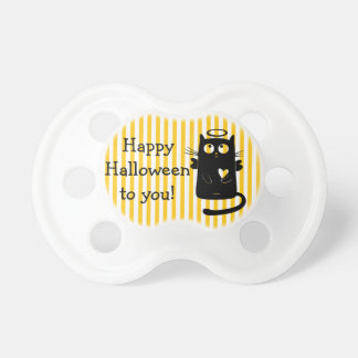 Happy Halloween angel Cat Heart  Pacifier