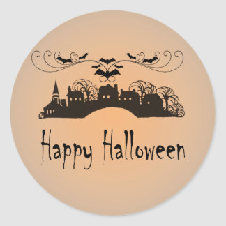 Happy Halloween Art Gifts Classic Round Sticker