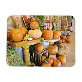 Happy Halloween Autumn Display Pumpkins Magnet