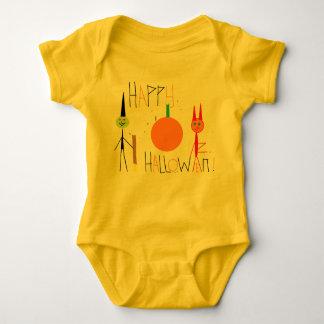 happy halloween baby bodysuit