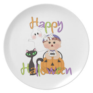 Happy Halloween Baby Friends Plate