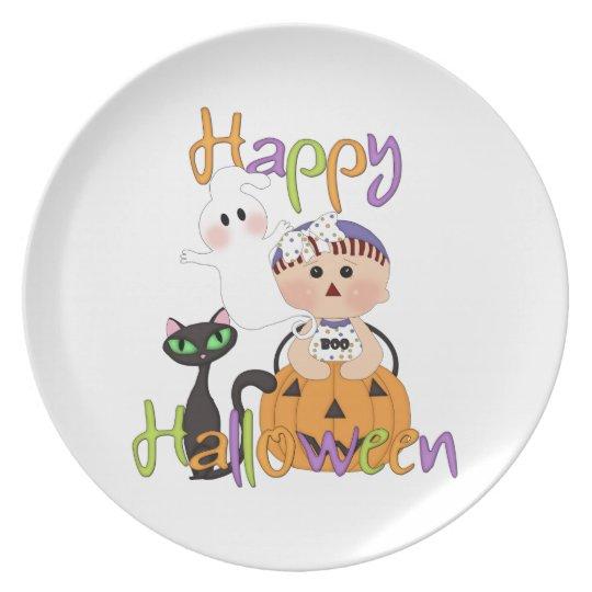 Happy Halloween Baby Friends Plate