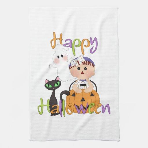 Happy Halloween Baby Friends Kitchen Towel