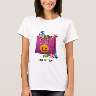Happy Halloween bag full of candy T-Shirt