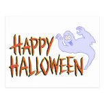 Happy Halloween Banner Post Card