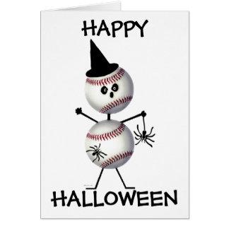 Happy Halloween Baseball Greeting Card