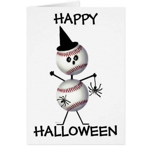 Happy Halloween Baseball Greeting Card Zazzle