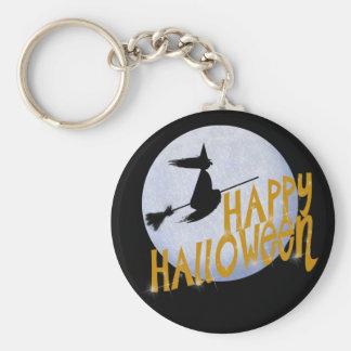 Happy Halloween Basic Round Button Key Ring