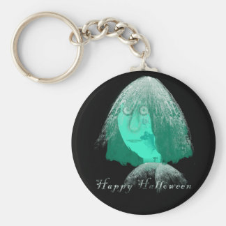 Happy Halloween Basic Round Button Key Ring