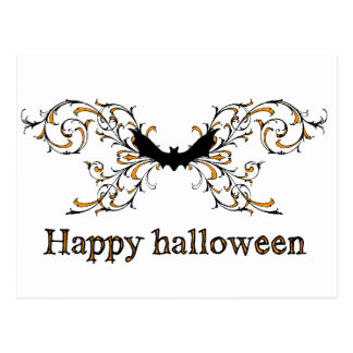 Happy Halloween bat Postcard