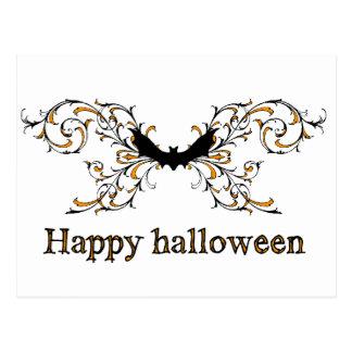 Happy Halloween bat Postcard