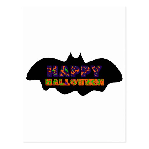 Happy Halloween Bat Postcards
