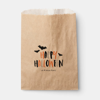 Happy Halloween Bats Favour Bags