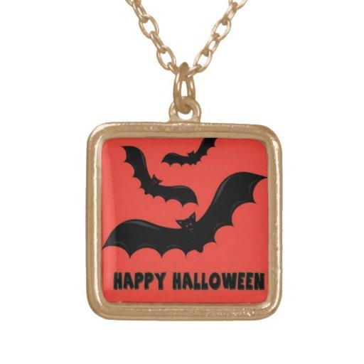 Happy Halloween Bats Pendant
