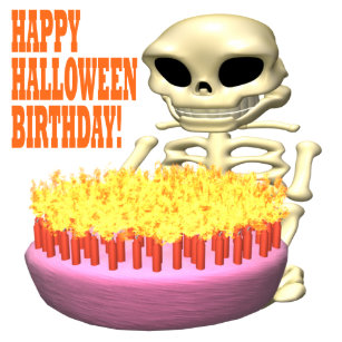Happy halloween birthday gifts gift ideas zazzle uk happy halloween birthday card bookmarktalkfo Images