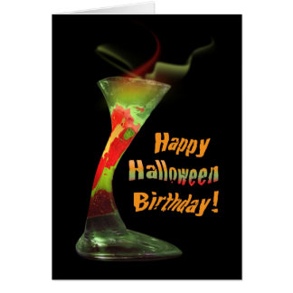 Happy Halloween Birthday Greeting Card