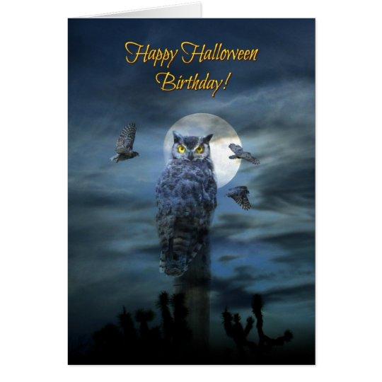 Happy Halloween Birthday Humour Card